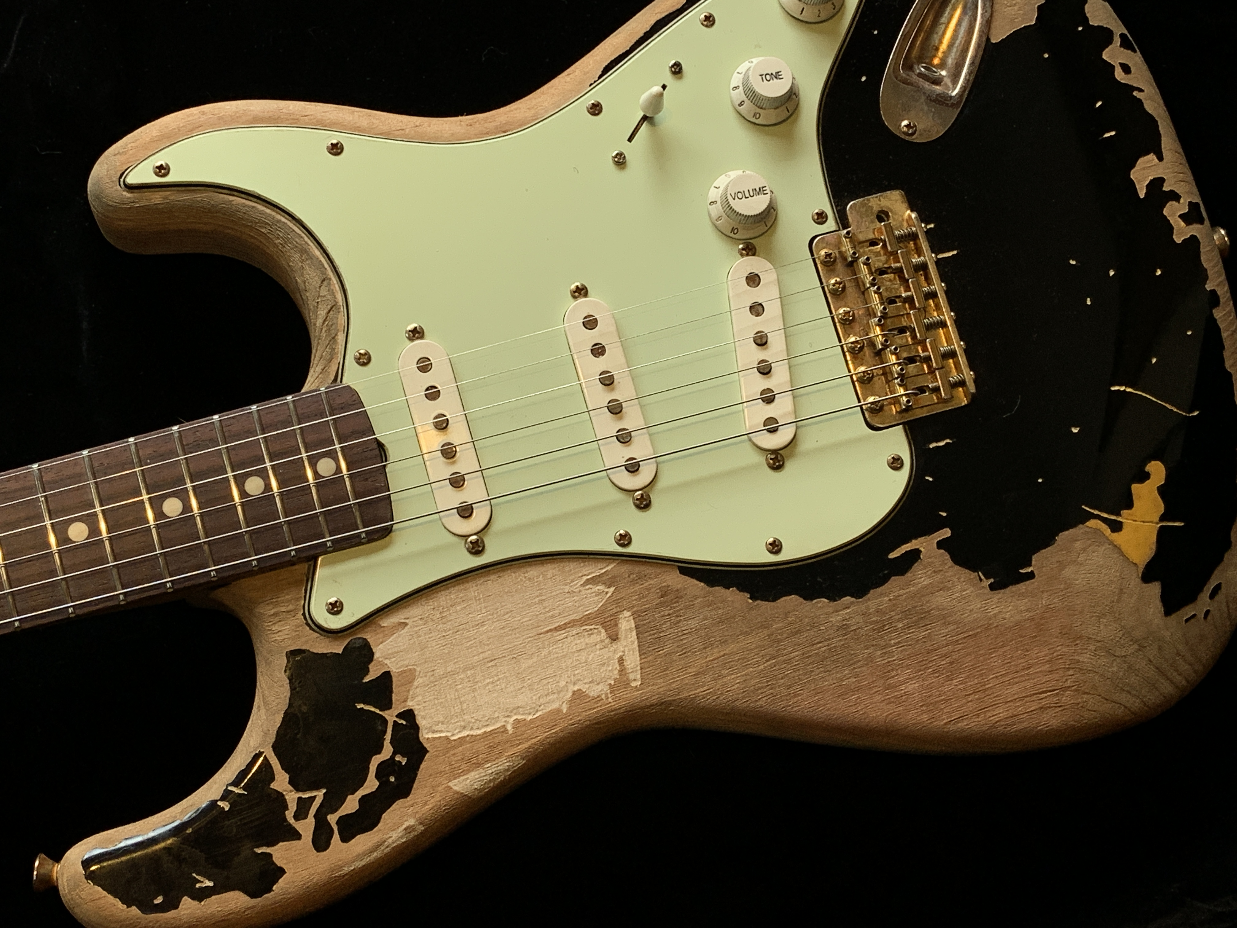 Remodeled John Mayer Black One Aged Parts A0408013